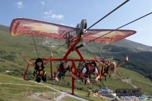 Familie im Paraglider